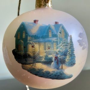 Thomas Kinkade Christmas Ball Ornament